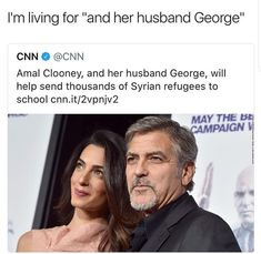 Awesome.  For once, the headline treated the woman like a real person and not merely the ornament of the man!