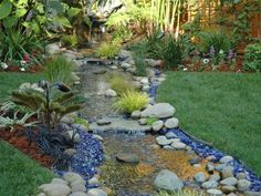 Wow... I think I could do this in the back yard, using the natural slope.  A good solar-powered pump could return the water uphill.  WOW.
