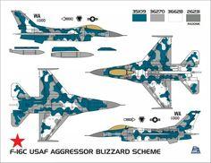 F-16C Aggressor, Blizzard scheme.