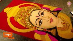 Easy Rangoli Designs Diwali, Free Hand Rangoli Design, Rangoli Ideas, Colorful Rangoli Designs, Kolam Rangoli, Cute Easy Drawings, Cool Art Drawings, Painting Patterns, Fabric Painting