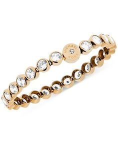 Michael Kors Clear Crystal Bezel Set Tennis Bracelet - All Fashion Jewelry - Jewelry & Watches - Macy's