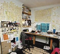Will Self, writer.   40 Inspiring Workspaces Of The Famously Creative