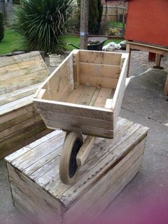 Wooden Pallet Wheelbarrow Planter | 101 Pallet Ideas