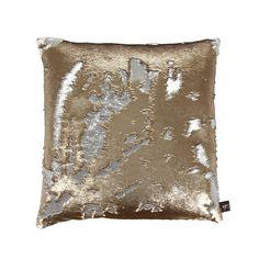 Discover the Aviva Stanoff Two Tone Mermaid Sequin Cushion - Citrine - 50x50cm at Amara