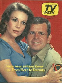 "NATALIE WOOD, WILLIAM DEVANE iN ""FROM HERE TO ETERNITY"" (1979)"