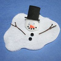 A melting snowman will fit right in with other funny or personable collectibles.