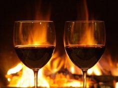 wine & fireplace