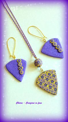 Parure in #fimo Violet #handmade #polymerclay