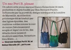 """Nordic midi"" Bags by PERL B - Femina Magazine Magazine, Blog, Pouch Bag, Magazines, Blogging, Warehouse, Newspaper"