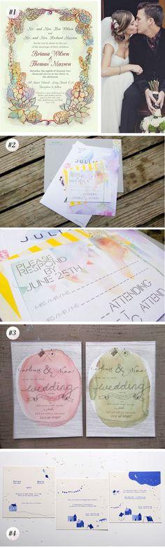 watercolor invites