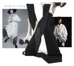"""Oversized White Button Shirt"" by modifiednow ❤ liked on Polyvore featuring мода"