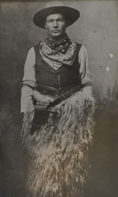 photograph of an unidentified cowboy, c. 1900