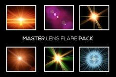 Master Lens Flare Pack  by loswl on @creativemarket