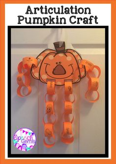 Create this fun Pumpkin craft while practicing initial and final articulation sounds.