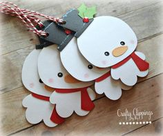 Christmas Gift Tags Snowman Gift Tags by CraftyClippingsbyPeg
