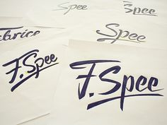 Personal Logotype Sketch by Fabrice Spee
