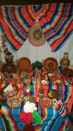 Mexican candy table Fiesta Theme Party, Mexican Fiesta Party, Party Themes, Quinceanera Party, Mexican Birthday Parties, 25th Birthday Parties, 2nd Birthday, Mexican Candy Bar, Mexico Party