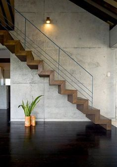 Modern Staircase Design Ideas - Stairs are so usual that you do not give them a doubt. Have a look at best 10 instances of modern staircase that are as spectacular as they are . Wooden Staircase Design, Home Stairs Design, Wood Staircase, Staircase Remodel, Railing Design, Interior Stairs, Stair Railing, Railings, Stair Design
