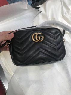 e788b620e9e0 Gucci GG Marmont Matelassé Mini Chain Bag 448065 Black