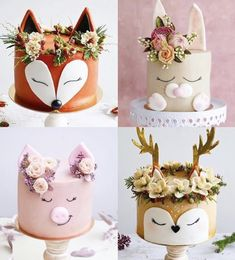 Pretty Cakes, Beautiful Cakes, Amazing Cakes, Bolo Charlotte, Cute Birthday Cakes, Animal Cakes, Just Cakes, Cake Decorating Techniques, Occasion Cakes