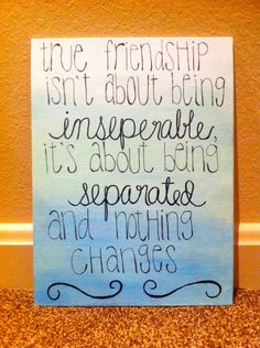 Friendship/Sisterhood quote ombre canvas by KMCreations11 on Etsy, $17.00