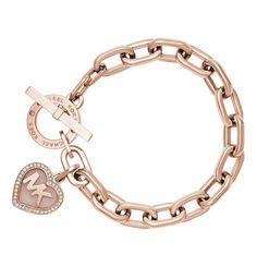 MICHAEL KORS Armband Valentine, Edelstahl, rose, MKJ5060791 Rosegold