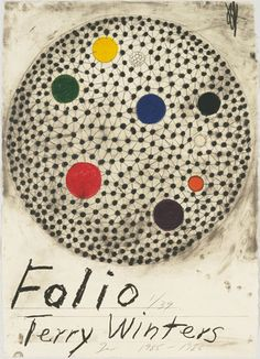 Terry Winters. Title page from Folio. 1985-1986