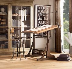 So in love with this drafting table.  Need to figure out how I can convince my husband that I NEED this in my life. ;)