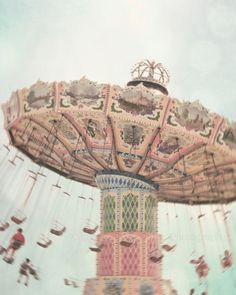 Carnival Dreams -- Dreamy Pastel Fine Art Photography Print (10x8) #fair #carnival #whimsical
