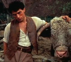"""Rufus Sewell smolders (and almost spontaneously combusts) as Seth, the randy farm boy, in """"Cold Comfort Farm."""""""