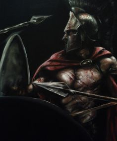 oil paintings of sparten images | spartan warrior by pakosantana traditional art paintings people 2012 ...
