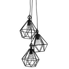 O5 Hanglamp ijzerdraad Mazarin triple   LOODS 5