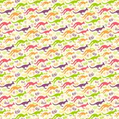 Jumping Kangaroos from spoonflower fabric