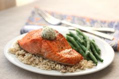 Barefeet In The Kitchen: Broiled Salmon with Peppery Dill Compound Butter