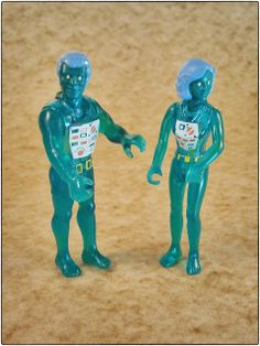 The X-Ray Man and X-Ray Woman, released by Fisher Price as part of the Adventure People line in 1982