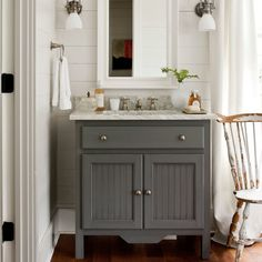 Master Bathroom - Farmhouse Restoration Idea House Tour - Southern Living