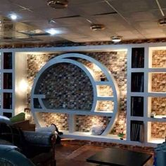 Home Decor: 20 Wonderful places for TV wall mount Tv Unit Design, Tv Wall Design, Wall Shelves Design, Plafond Staff, Tv Wand, Modern Tv Wall, Plafond Design, Tv Wall Decor, Cupboard Design