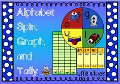 Interactive spins helps students practice alphabet sounds while they graph, tally, add, or use >,<,= signs.  The best of math and literacy centers combined!