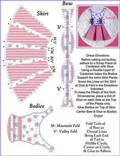 You will receive the File and Directions to create this Dimensional Dress and Coordinating Bow Set for use as a Topper or as an Embellishment for your Feminine Cards and Crafts. Use the Dress and Bow Together or as Separate Elements to add a Truly Unique look to all of your Creations. Enjoy!