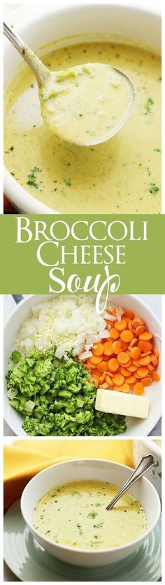 Broccoli Cheese Soup (Panera Copycat) If you love Panera Breads Broccoli Cheddar Soup you are going to be amazed with this copycat recipe! Vegetarian Recipes, Cooking Recipes, Healthy Recipes, Delicious Recipes, Creamy Soup Recipes, Skillet Recipes, Cooking Tools, Healthy Food, Best Broccoli Cheese Soup