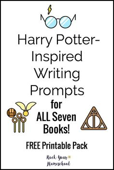 Inspire & motivate your Harry Potter fans with these writing prompts. Free printable pack with prompts for all seven books!
