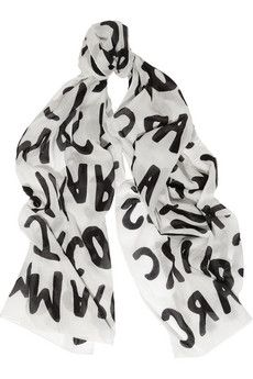 Marc by Marc Jacobs Printed cotton scarf | NET-A-PORTER