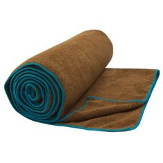 Gaiam Sol Dry-Wick Yoga Towel, Chai/Aqua * You can get more details by clicking on the image.
