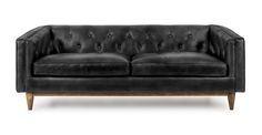 Tips That Help You Get The Best Leather Sofa Deal. Leather sofas and leather couch sets are available in a diversity of colors and styles. A leather couch is the ideal way to improve a space's design and th Tan Sofa, Black Sofa, Black Couches, Leather Living Room Furniture, Sofa Furniture, Wooden Furniture, Kitchen Furniture, Comfy Sofa, Comfortable Sofa