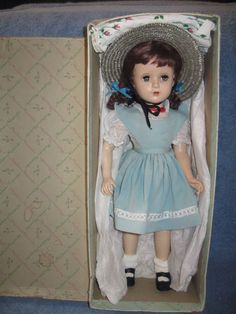 VINTAGE RARE IN BOX MADAME ALEXANDER MARGARET O'BRIEN DOLL HARD PLASTIC 18 IN