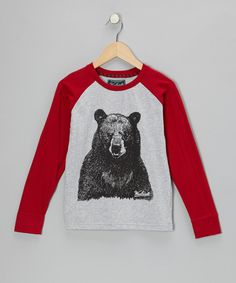 Take a look at this Red Bear Raglan Tee - Infant, Toddler & Boys on zulily today!