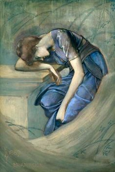 Study for The Garden Court, Edward Burne-Jones. English Pre-Raphaelite Painter (1833 - 1898)