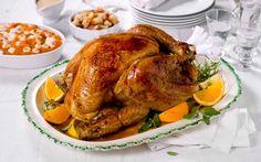 Helstekt kalkun er en populær rett på mange norske nyttårsbord, men også til Thanksgiving. Med en søtpotetmos toppet med marsmallows får du en skikkelig amerikansk vri på kalkunmiddagen.