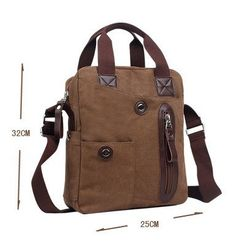 62eddfafe9400 Men s Canvas Cross-Body Military Handbag Hiking Sling Shoulder Messenger Bag  New