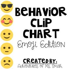 This is a perfect way to enforce positive behavior in your classroom. You can choose a 5 tiered or 7 tiered chart to use. Students will love seeing these fun emojis in your classroom!What is a clip chart?A clip chart is a behavior management system that allows students to move up and down based on positive and negatives behavior.